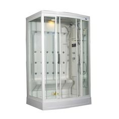 @Overstock - Take showering to a new level with this 24-jet steam shower. Packed with features, it has a built-in steam generator, an overhead rainfall shower, a handheld shower, and an LED push-button radio that lets you listen to music while you freshen up. o.com $2,859.99 I wonder if you still need a plumber to make pressure changes so all those sprays don't just drip drop? I would love to try a multi spray shower just once at least!