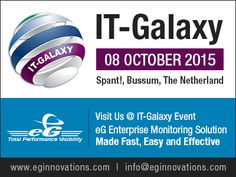 Visit us at: IT-Galaxy, 08 October 2015, Spant! Bussum, The Netherland