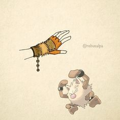 No. 057 - Primeape. #pokemon #primeape #gauntlets #pokeapon