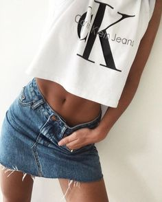 Shared by Sassy Girl. Find images and videos about girl, fashion and style on We Heart It - the app to get lost in what you love. Cool Summer Outfits, Cute Outfits, Calvin Klein, Fashion Outfits, Womens Fashion, Fashion Trends, Girl Fashion, Popular Outfits, Spring Summer Fashion