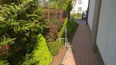 Ogród po 4 latach od założenia (widok na wejście do ogrodu wiosną)