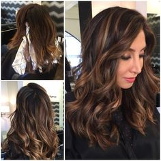 Dark brown with highlights