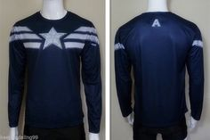 2015 Captain America Winter Soldier Tee Short Long Sleeve T-Shirt Sports Jersey