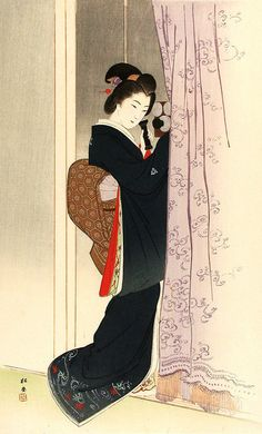 Yukawa Shoudou (1868-?) 湯川松堂  from the series One Hundred Beauties Depicting Modern and Ancient Manners 今古風俗百美人、1903