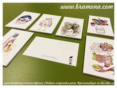 Larga vida a las postales!!!  Ilustraciones de Marlene Monterrubio, una ilustradora mexicana residente en Barcelona, que convierte sus ilustraciones en postales,  Si quieres puedes visitar su blog (www.ilustracionmarlene.blogspot.com.es) donde verás sus trabajos…  Aquí una muestra de las últimas impresiones que le hemos realizado.  Recuerda tú te encargas de la #creatividad, nosotros de la #impresion  www.bramona.com www.bramona.com/wordpress (#ideas originales para #personalizar tu día a…
