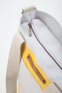 Totebag Nanke grey/ yellow