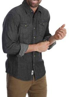 c907feced5e Wrangler Men s and Big   Tall Premium Slim Fit Denim Shirt