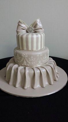 """ Sweet Loveliness"" wedding cake ~ Excellent!"