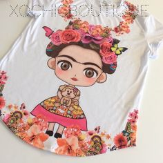 1DAY SALE Frida kahlo flower tee plus sizes Fun, comfy & chic!  This new and amazing line carried by Xochic Boutique!  Hand selected By me for you! Carrying sizes up to 4XL.  Sizes do run small, please see pictures for sizing!  Price firm unless bundled  If I don't have your size, please let me know and I can order your size with my next order. 100% polyester. Made in Mexico. Hand wash.  New retail without tags. Xochic boutique  Tops Tees - Short Sleeve