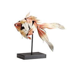 gold fish sculpture