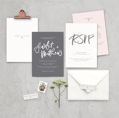 "Lamplighter London - Customisable Wedding Invitations - ""Love Me Do"""