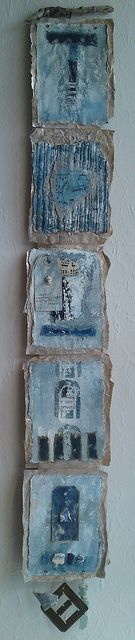 Sally MacCabe: Home Again | mixed media wall hanging http://www.flickr.com/photos/sallymaccabe/