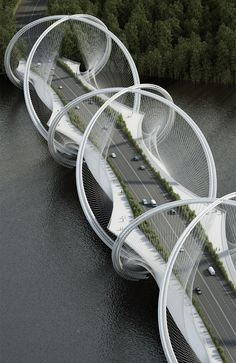 Architecture studio Penda has teamed up with engineering firm Arup to design a bridge made up of overlapping rings for the 2022 Winter Olympics in Beijing.