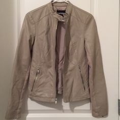 Express Faux Leather Jacket Only worn a few times. Great for spring and cool summer nights! Express Jackets & Coats