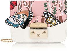 Furla Petalo Metropolis Mini Crossbody Bag w/Detachable Butterfly Flap