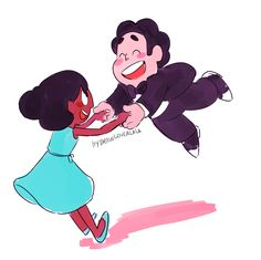 Connie e steven❤❤ Steven Universe Theories, Steven Universe Ships, Greg Universe, Steven Universe Movie, Universe Art, Cartoon Tv, Cartoon Shows, Alison Angel, Kids In Love