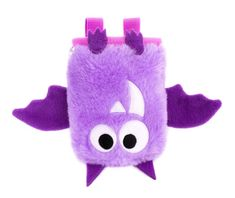 super cute and funny violet bat rock climbing chalk bag by craftic