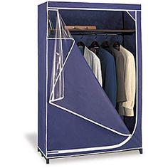 Deluxe Blue Polypropylene and Tubular Steel Wardrobe Storage