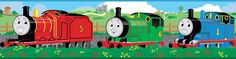 "Thomas and Friends 15' x 5"" Scenic Border Wallpaper"