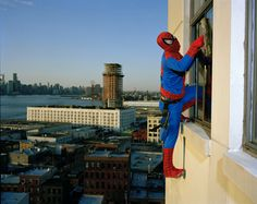 The Real Story of the Superheroes, spiderman professional window cleaner