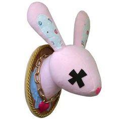 "#SCAD alumna Jessica Knapp, ""Hot Cross Bunny"" mounted plushkill $95  @shopSCAD"