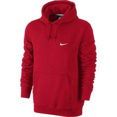 Men's Nike Swoosh Fleece Hoodie, Red