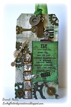Tim Holtz style handmade tag!!!  Created using various Tim Holtz product