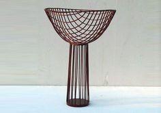 VITO    vaso in filo di ferro cotto vari colori  h 60 x 40 x 40    © 2012 Antonino Sciortino