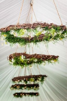 Floral Design Maine Wedding- twig wreaths decorated to hang from ceiling! Wedding Wreaths, Diy Wedding, Rustic Wedding, Wedding Flowers, Wedding Ideas, Green Wedding, Elegant Wedding, Wedding Aisles, Wedding Backdrops