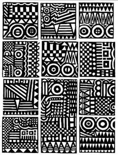 rubberstamps Tribal Patterns, Doodle Patterns, Zentangle Patterns, African Patterns, Pattern Art, Pattern Design, Ink Pen Art, Native American Symbols, Zentangle Drawings