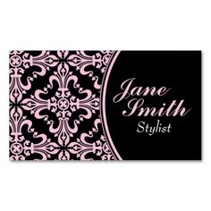 Stylish Classy Elegant Professional Damask Floral Business Cards. Make your own business card with this great design. All you need is to add your info to this template. Click the image to try it out!