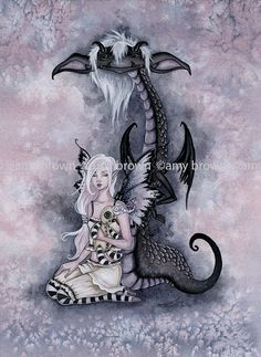 Fairy Art Artist Amy Brown: The Official Online Gallery. Fantasy Art, Faery Art, Dragons, and Magical Things Await. Fantasy Dragon, Dragon Art, Fantasy Art, Magical Creatures, Fantasy Creatures, Amy Brown Fairies, Dark Fairies, Fantasy Fairies, Elfen Fantasy