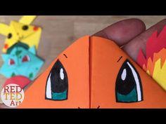 Easy Squirtle DIY - Pokemon Bookmarks - Origami Inspired - Pokemon Go - YouTube