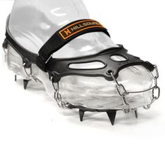 Hillsound Trail Crampon - Trail Crampons are a relatively new product that provide traction on snow and ice in the winter. Use them on every winter hike -- even in loose snow, they improve traction. On icy trails, they're essential. $15 for a 1 week rental.