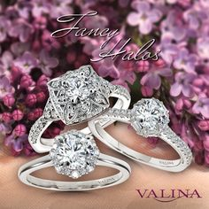 When a regular halo isn't enough, go a step further with a fancy halo! These intricate and bold engagement rings are perfect for creative and glamorous women who want to feel unique. #Valina #bridalblog #bridalblogger #weddingblog #bridaltrends #jewelrytrends #modernengagementrings #statementjewelry #statementengagementring #engagementrings #engagementring #haloengagementring #halo #diamondhalo #haloring #diamondring #floraljewelry #starjewelry #diamonds #diamondrings #2021bride Most Popular Engagement Rings, Classic Engagement Rings, Gemstone Engagement Rings, Halo Diamond Engagement Ring, Feel Unique, Star Jewelry, Jewelry Trends, Statement Jewelry, Diamond Cuts