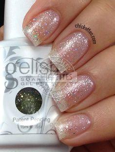 Gelish Water Field has bigger specks of glitter in it
