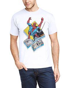 Marvel BILMC00049-WHITE - Camiseta de manga corta para hombre, color blanco…