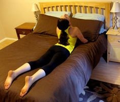 I tried all these stretches right before bed... They really do relax your muscles and help you fall asleep right away!
