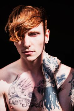 Jake Hold - Fucking Young Magazine - male model portrait red ginger tattoos