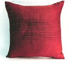 Red art silk pillow, Rippled pin tuck pattern, Decorative pillows for sofa, Thanksgiving gift, Couch Couch Cushions, Red Pillows, Large Pillows, Colorful Pillows, Throw Pillows, Large Pillow Cases, Decorative Pillow Cases, Giant Floor Pillows, Oversized Pillows