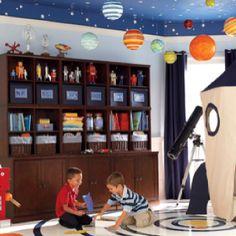 Love this idea for the boys playroom