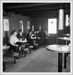 """Espresso Arrives in Reykjavík, 1958. """"The first espresso bar opened in Reykjavík on 9 January 1958. From a newspaper that day: """"The coffee there is made with an Italian method using steam pressure and is supposed to be very strong and uplifting.""""    Photo: Andrés Kolbeinsson"""