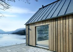 Loch Duich - Rural Design Architects - Isle of Skye and the Highlands and Islands of Scotland Full Ht windows, shiplap siding Rural House, House In The Woods, Residential Architecture, Architecture Design, Style Loft, Timber Cladding, Small Buildings, Garden Studio, Exterior
