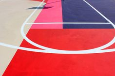 Artist William LaChance worked with non-profit organisation Project Backboard to create a giant mural over basketball courts in a St Louis suburb
