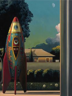 """Saatchi Art is pleased to offer the painting, """"Rocketman Limited Edition Print.,"""" by ross jones. Original Painting: Giclée on Paper. Fantasy Illustration, Graphic Illustration, Science Fiction Art, Limited Edition Prints, Medium Art, Great Artists, Fantasy Art, Saatchi Art, Cool Art"""
