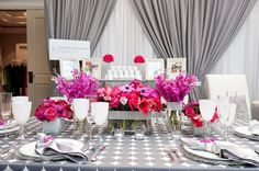 Fuchsia and Silver Wedding  | Hot Pink Wedding | Pink Wedding Ideas | Inspiration from www.EventDazzle.com | Dream Wedding | Fuchsia Wedding Ideas