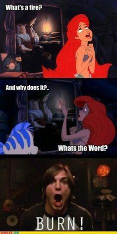 ariel burn. HAHAHAHA That 70s show and Ariel