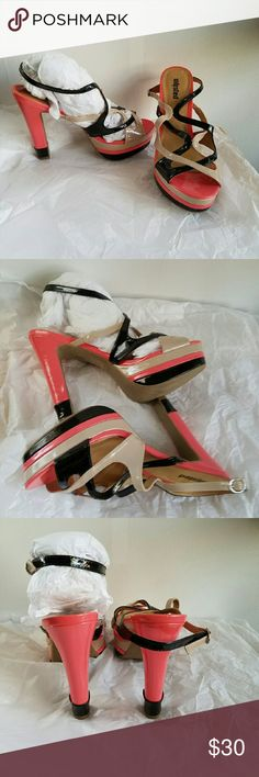 Unlisted high heels, sz 10 Unlisted heels size 10, new only worn around house never outside. Cute shoes Unlisted Shoes Heels
