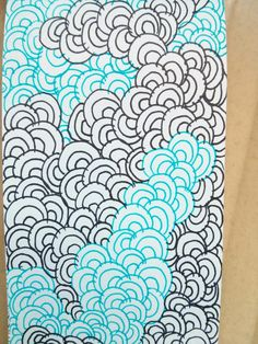 Zentangle - one pattern with different color gel pens/markers!