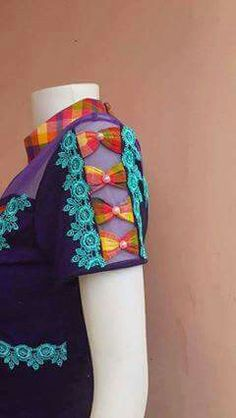 Or tone on tone Kurti Sleeves Design, Sleeves Designs For Dresses, Sleeve Designs, Salwar Designs, Saree Blouse Designs, Blouse Patterns, Sewing Patterns, Sewing Sleeves, T Shirt Diy